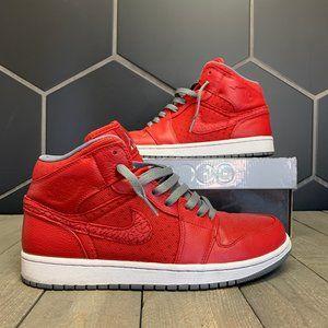 Used Air Jordan 1 Phat Red Grey Size 9.5
